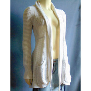 Angel of the North Anthro Long Open Cardigan S